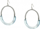 Hinged Drop Earrings 1 2 Lucite  1 2 Pave