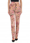 Animal Print Trousers In Pink