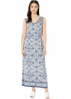 Printed Matte Jersey Maxi Side Tie