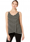 Embossed Strap Stripe Jersey Tank Top