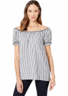 End On End Stripe Off the shoulder Top