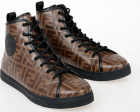 Fendi Leather Ff Sneakers