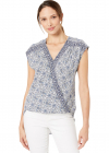 Printed Rayon Sleeveless Shirttail Top