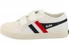 Coaster Kids Fashion Trainers In White Navy Red