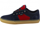 Barge Ls Skate Trainers In Navy Red Gum