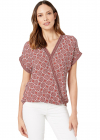 Cap Sleeve Shirttail Top