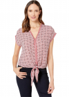 V neck Top With Self Tie