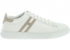 H365 Sneakers In White And Beige
