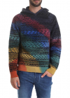 Hoodie With Multicolor Pattern