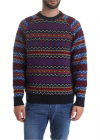 Pullover With Multicolor Pattern