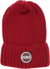 Film Beanie In Red With Logo Patch
