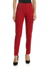 Red Stretch Virgin Wool Trousers