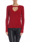 Lamé Wool Sweater In Red