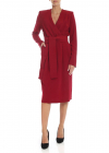 Red Cady Dress With Ribbon