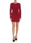 Red Cady Dress With Ruffles