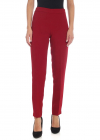 Red Cady Trousers With Vents