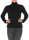 Ribbed Turtleneck In Stormy Night Color