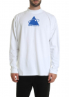 Triangle Planet Over Mock T shirt In White