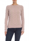 Nude Pullover With Embossed Pattern