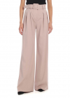 Pink Palazzo Pants With Belt