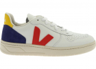 V 10 Sneakers In White With Red V Logo