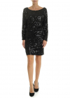 Black Jersey Dress With Sequins