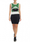 Cosmika Dress In Green And Black