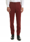 Diagonal Knitting Trousers In Red