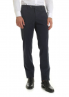 Diagonal Knitting Trousers In Blue