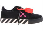 Low Vulcanized Sneakers In Black And Fuchsia