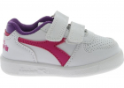 Playground Td Sneakers In White And Fuchsia