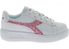 Game Step Ps White Sneakers With Pink Glitter
