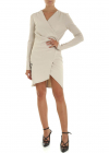 Side Opening Dress In Taupe Color