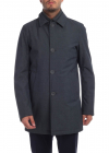 Promotii Shirt Collar Coat In Melange Gray Ieftine