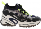 Birs Sneakers Blue Black And Neon Yellow