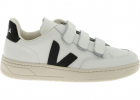 V lock Sneakers In White With Black V