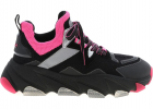 Energy Sneakers In Black And Neon Pink