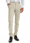 Stretch Cotton Trousers In Ivory Color