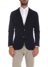 Jacket In Blue With Notch Lapels
