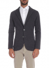 Jacket With Notch Lapels In Gray