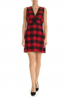 Mescolare Dress In Red And Black Checkered