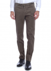 Stretch Cotton Trousers In Mud Color