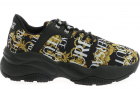 Versace Jeans Couture Logo Baroque Sneakers In Black