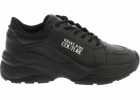 Versace Jeans Couture Sneakers In Black With Logo