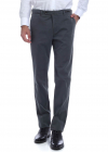 Cotton Blend Trousers In Gray