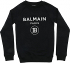 Black Sweatshirt With Glitter Logo Print