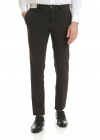 Slim Fit Trousers In Brown Cotton