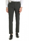 Slim Fit Trousers In Green With Micro pattern