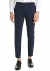 Tight Fit Trousers In Blue Cotton