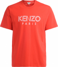 T Shirt Kenzo In Cotone Rosso Con Logo Bianco Frontale